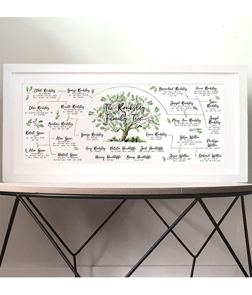 The Original Family Tree Print - Made to Order Personalised Print