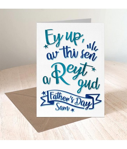 Father's Day 'Reyt Gud' Card
