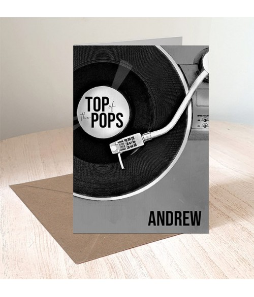 Father's Day Top of the Pops Card
