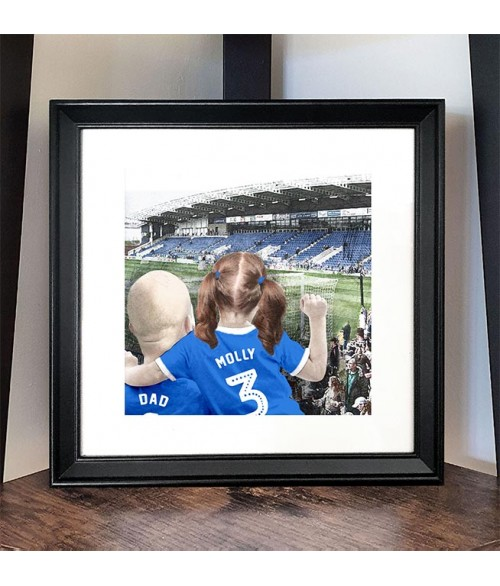 Football Fan Customisable Illustration - Chesterfield FC Ground