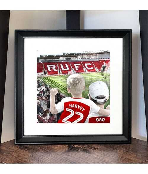 Football Fan Customisable Illustration - Rotherham United Ground
