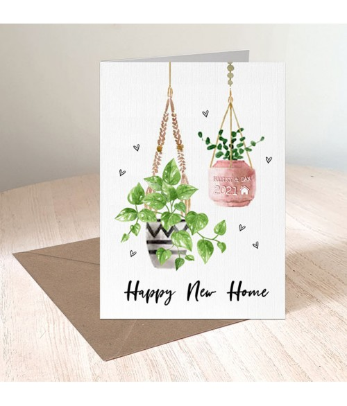New Home Hanging Plants Card