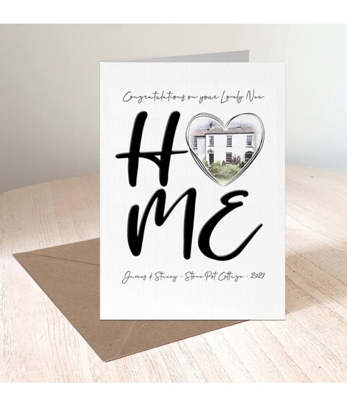 New Home Personalised Illustration Card