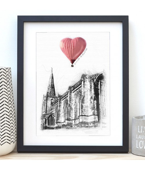 Wedding Venue Illustration - Up, Up and Away Series