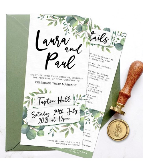 Olivia Botanical Wedding Invitations Range