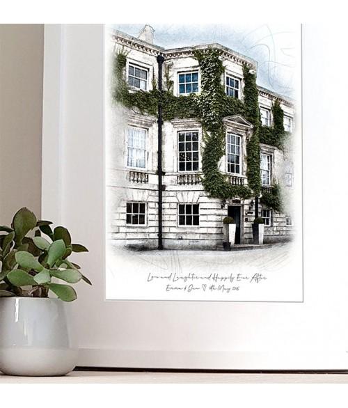 Wedding Venue Illustration - Mitre Frame
