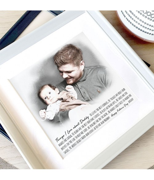 Daddy and Me - Personalised Illustration