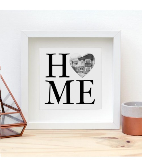 Home Print - With Illustrated Heart
