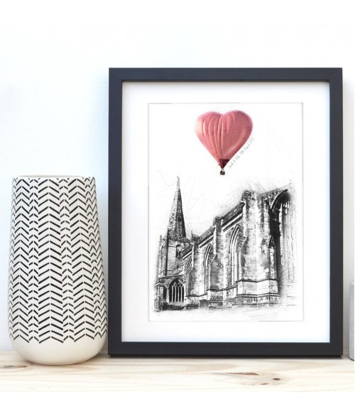 Wedding Venue Illustration - Up, Up and Away